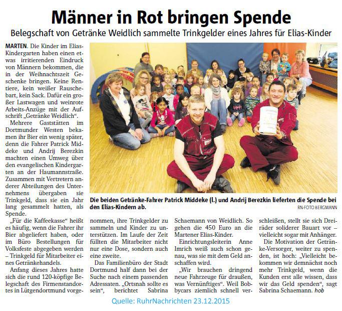 2015 und da war noch... : Evangelische Elias Kirchengemeinde Dortmund